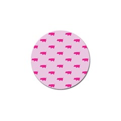 Pig Pink Animals Golf Ball Marker by AnjaniArt