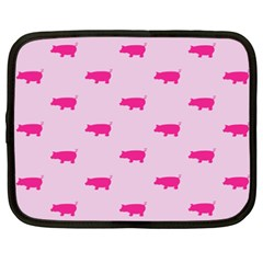 Pig Pink Animals Netbook Case (xxl)  by AnjaniArt