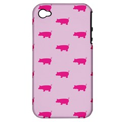 Pig Pink Animals Apple Iphone 4/4s Hardshell Case (pc+silicone) by AnjaniArt