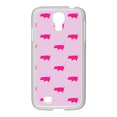 Pig Pink Animals Samsung Galaxy S4 I9500/ I9505 Case (white) by AnjaniArt