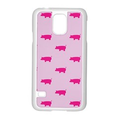 Pig Pink Animals Samsung Galaxy S5 Case (white) by AnjaniArt