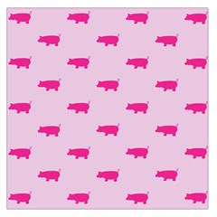 Pig Pink Animals Large Satin Scarf (square) by AnjaniArt
