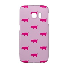 Pig Pink Animals Galaxy S6 Edge by AnjaniArt