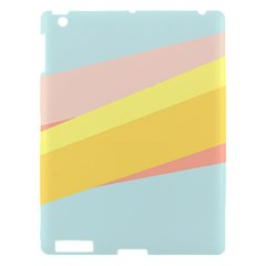 Pink Green Yellow Line Flag Apple Ipad 3/4 Hardshell Case by AnjaniArt