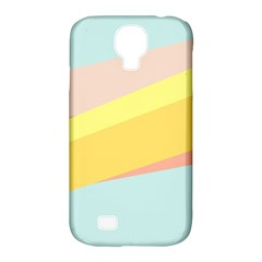 Pink Green Yellow Line Flag Samsung Galaxy S4 Classic Hardshell Case (pc+silicone) by AnjaniArt