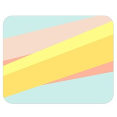Pink Green Yellow Line Flag Double Sided Flano Blanket (medium)  by AnjaniArt