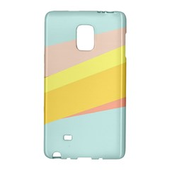 Pink Green Yellow Line Flag Galaxy Note Edge by AnjaniArt