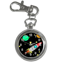 Planet Saturn Rocket Star Key Chain Watches by AnjaniArt