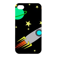 Planet Saturn Rocket Star Apple Iphone 4/4s Premium Hardshell Case