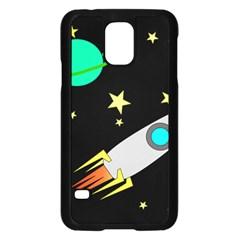 Planet Saturn Rocket Star Samsung Galaxy S5 Case (black)