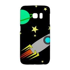 Planet Saturn Rocket Star Galaxy S6 Edge by AnjaniArt