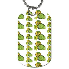 Parrot Bird Green Animals Dog Tag (two Sides) by AnjaniArt