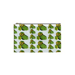 Parrot Bird Green Animals Cosmetic Bag (small)  by AnjaniArt