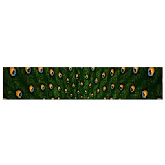Peacock Feathers Green Flano Scarf (small) by AnjaniArt