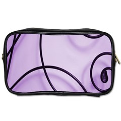 Purple Background With Ornate Metal Criss Crossing Lines Toiletries Bags 2 Side by AnjaniArt