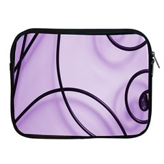 Purple Background With Ornate Metal Criss Crossing Lines Apple Ipad 2/3/4 Zipper Cases by AnjaniArt