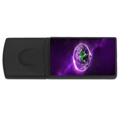 Purple Space Planet Earth USB Flash Drive Rectangular (2 GB) by AnjaniArt