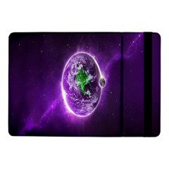Purple Space Planet Earth Samsung Galaxy Tab Pro 10 1  Flip Case by AnjaniArt