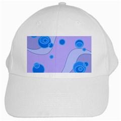 Purple Wave White Cap by AnjaniArt