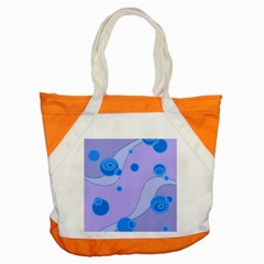 Purple Wave Accent Tote Bag