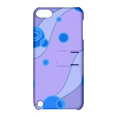 Purple Wave Apple Ipod Touch 5 Hardshell Case With Stand by AnjaniArt