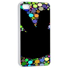 Prismatic Negative Space Comic Peace Hand Circles Apple Iphone 4/4s Seamless Case (white) by AnjaniArt