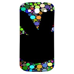 Prismatic Negative Space Comic Peace Hand Circles Samsung Galaxy S3 S Iii Classic Hardshell Back Case by AnjaniArt