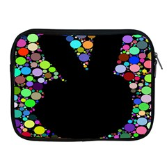 Prismatic Negative Space Comic Peace Hand Circles Apple Ipad 2/3/4 Zipper Cases by AnjaniArt