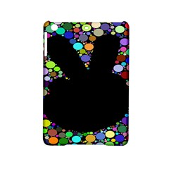 Prismatic Negative Space Comic Peace Hand Circles Ipad Mini 2 Hardshell Cases by AnjaniArt