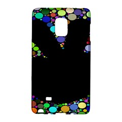 Prismatic Negative Space Comic Peace Hand Circles Galaxy Note Edge