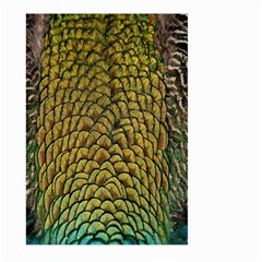 Peacock Bird Feather Color Large Garden Flag (two Sides) by AnjaniArt