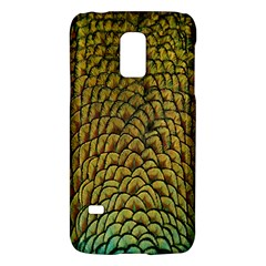 Peacock Bird Feather Color Galaxy S5 Mini by AnjaniArt