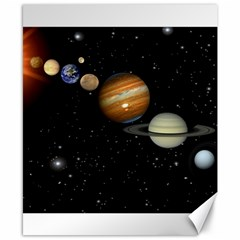 Outer Space Planets Solar System Canvas 8  X 10  by Onesevenart