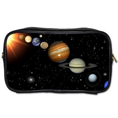 Outer Space Planets Solar System Toiletries Bags 2 Side by Onesevenart