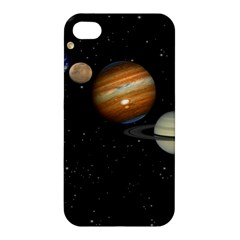 Outer Space Planets Solar System Apple Iphone 4/4s Hardshell Case by Onesevenart