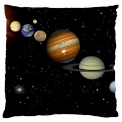 Outer Space Planets Solar System Large Cushion Case (one Side) by Onesevenart