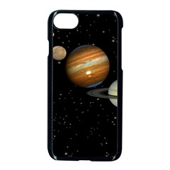 Outer Space Planets Solar System Apple Iphone 7 Seamless Case (black) by Onesevenart