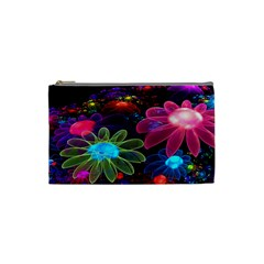 Nice 3d Flower Cosmetic Bag (small)  by Onesevenart
