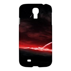 Outer Space Red Stars Star Samsung Galaxy S4 I9500/i9505 Hardshell Case by Onesevenart