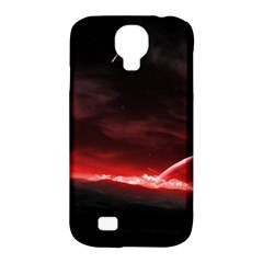 Outer Space Red Stars Star Samsung Galaxy S4 Classic Hardshell Case (pc+silicone) by Onesevenart
