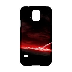 Outer Space Red Stars Star Samsung Galaxy S5 Hardshell Case  by Onesevenart