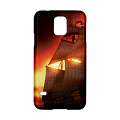 Pirate Ship Caribbean Samsung Galaxy S5 Hardshell Case  by Onesevenart