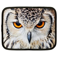 Owl Face Netbook Case (xxl)  by Onesevenart