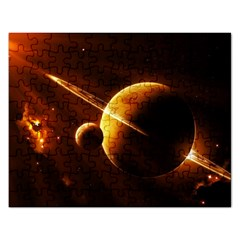 Planets Space Rectangular Jigsaw Puzzl