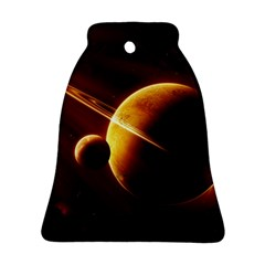 Planets Space Bell Ornament (two Sides) by Onesevenart