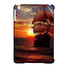 Pirate Ship Apple iPad Mini Hardshell Case (Compatible with Smart Cover) by Onesevenart