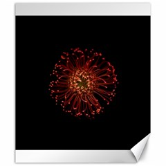 Red Flower Blooming In The Dark Canvas 20  X 24   by Onesevenart