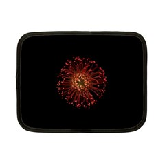 Red Flower Blooming In The Dark Netbook Case (small)  by Onesevenart