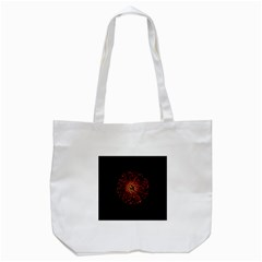 Red Flower Blooming In The Dark Tote Bag (white) by Onesevenart