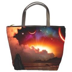 Red Fantasy Bucket Bags by Onesevenart